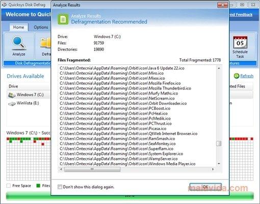 quicksys disk defrag