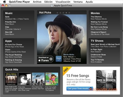 QuickTime Player + ITunes 106 (free) - Download