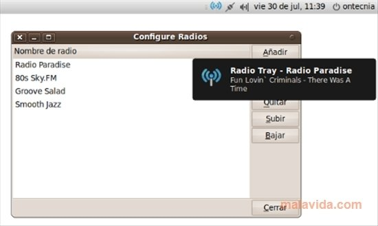 Radio Tray Linux image 2