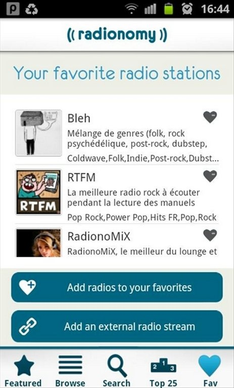 Radionomy Android image 5