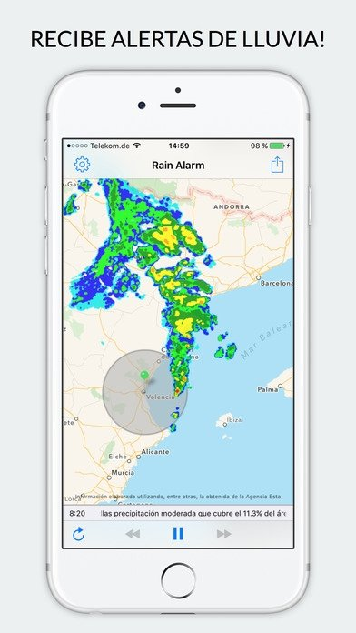 Rain Alarm - Alerte Pluie - Buienalarm iPhone image 5