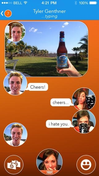 React Messenger iPhone image 5