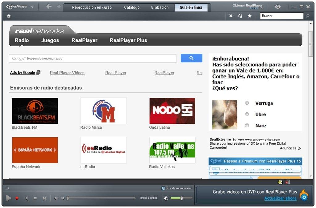 descargar real player version 11 gratis español