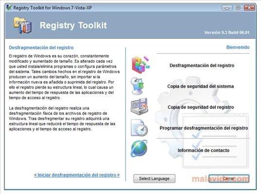 Registry Defragmentation 9.3.6.1