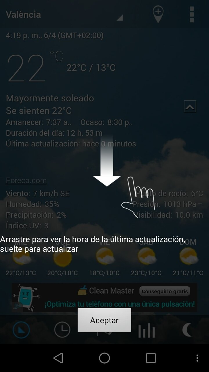 transparent clock and weather apk