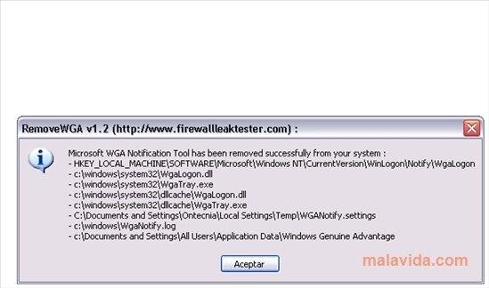 Free Download Descargar Wga Xp Remover