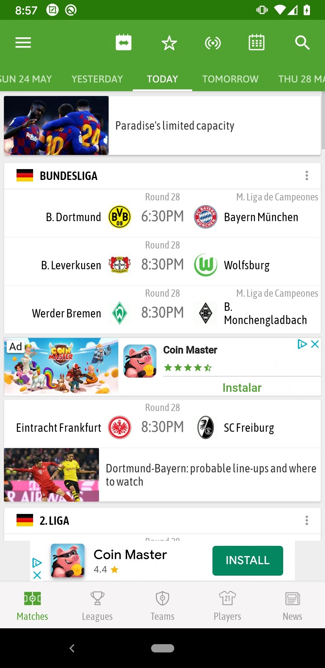Soccer Live Scores Android image 8