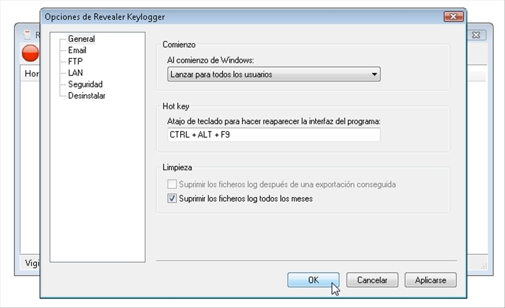 Revealer Keylogger 2.10 - Download for PC Free ... Revealer Keylogger image 4 Thumbnail ...