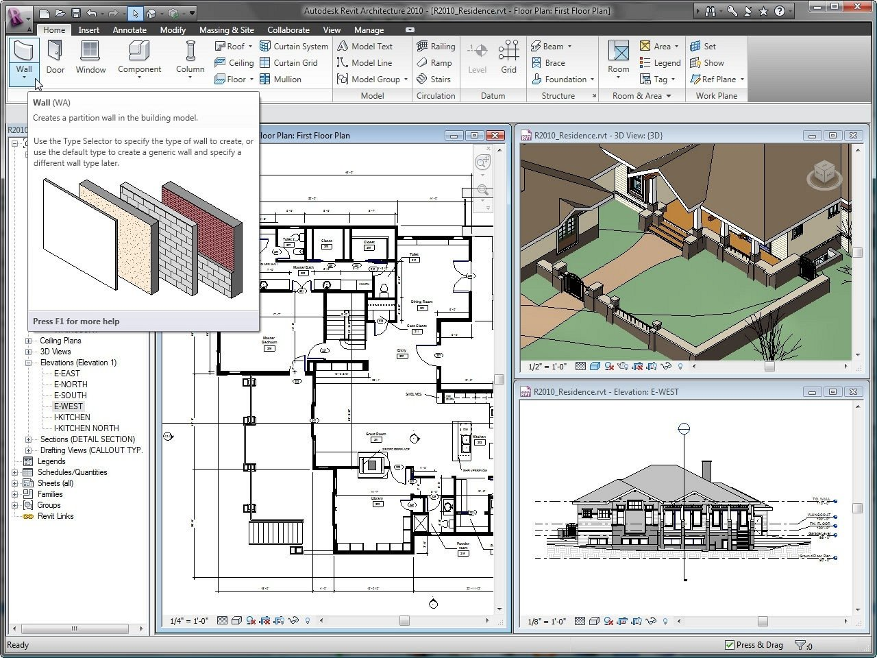 Download revit architecture 2017 free for Home architect design software free download
