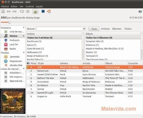 Rhythmbox Linux image 3