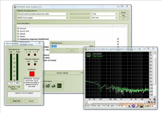 RightMark Audio Analyzer 6 4 5 - Download for PC Free