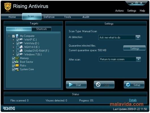Descargar Rising Antivirus 2011 23 00 42 47 Gratis