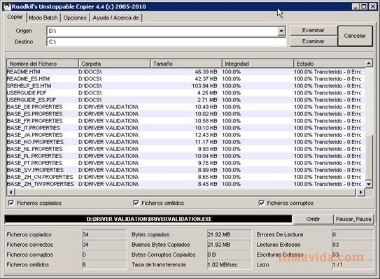 roadkil unstoppable copier