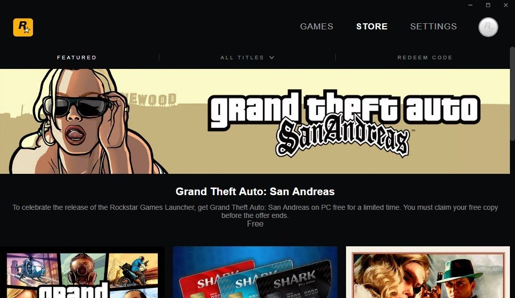 Rockstar Games Launcher 1 0 6 132 - Download for PC Free