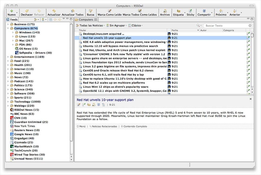 RSSOwl Mac image 5