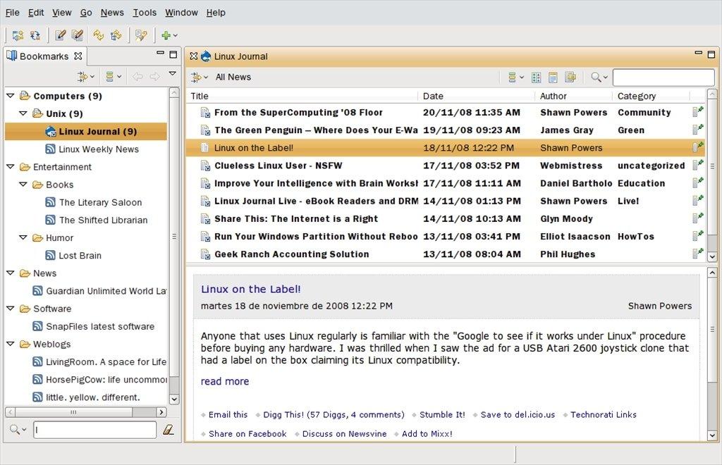 RSSOwl Linux image 4