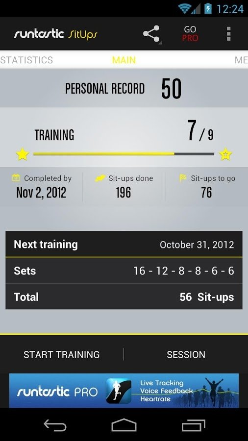 Runtastic SitUps Android image 5