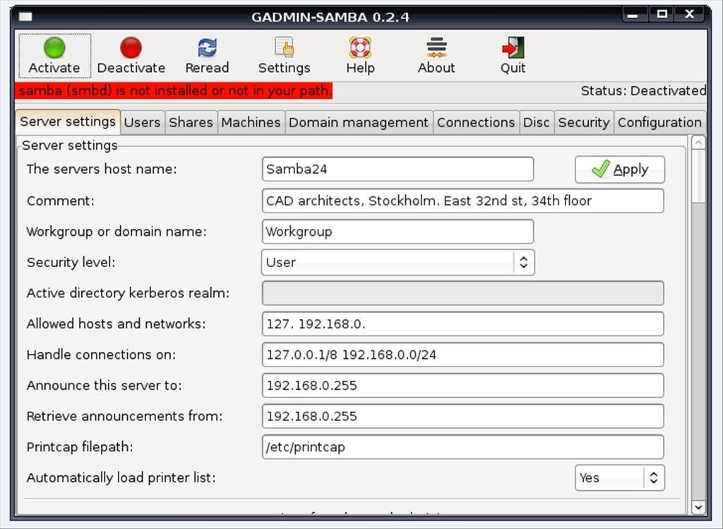 Samba Linux image 2