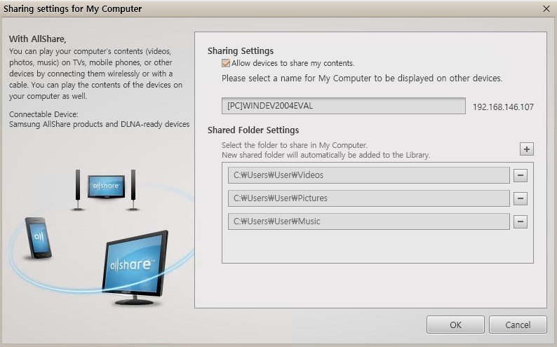 Samsung AllShare 2 1 0 12031_10 - Download for PC Free