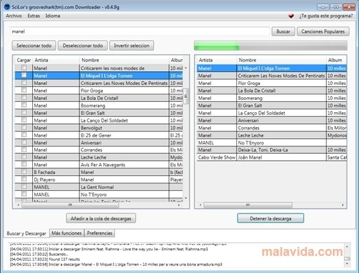 SciLor's Grooveshark Downloader 0.4.9.7