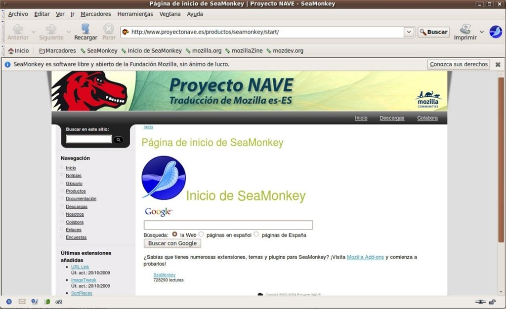 SeaMonkey Linux image 3