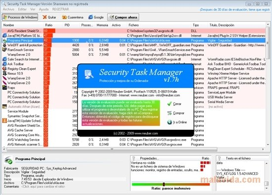 Security Task Manager 2 3c - Download for PC Free