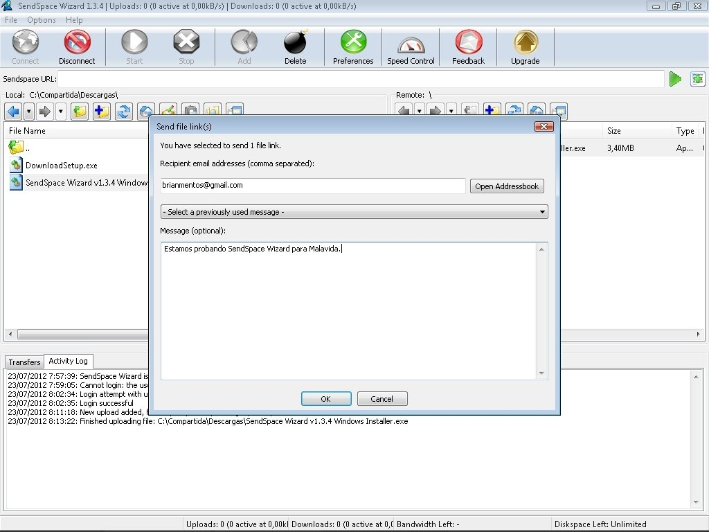 SendSpace Wizard 1 6 3 - Download for PC Free