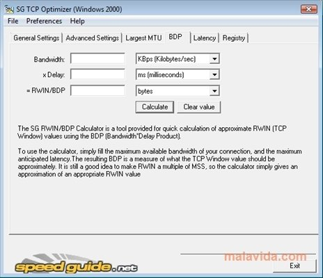 TCP OPTIMIZER TÉLÉCHARGER