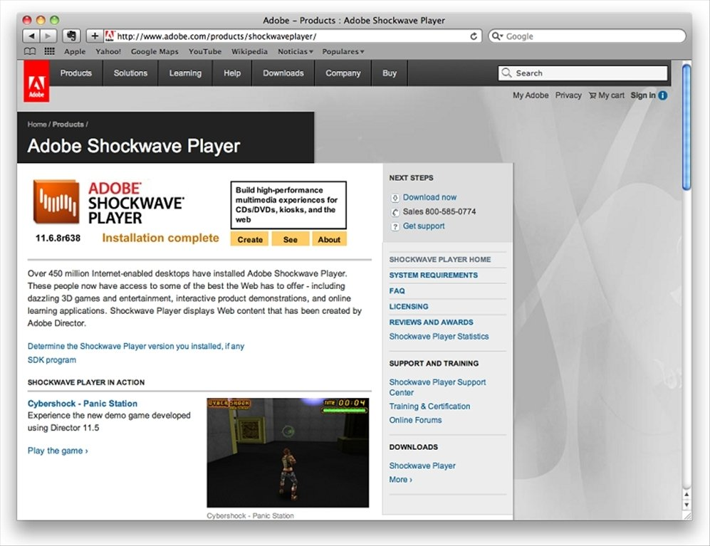 Shockwave Player Mac image 3