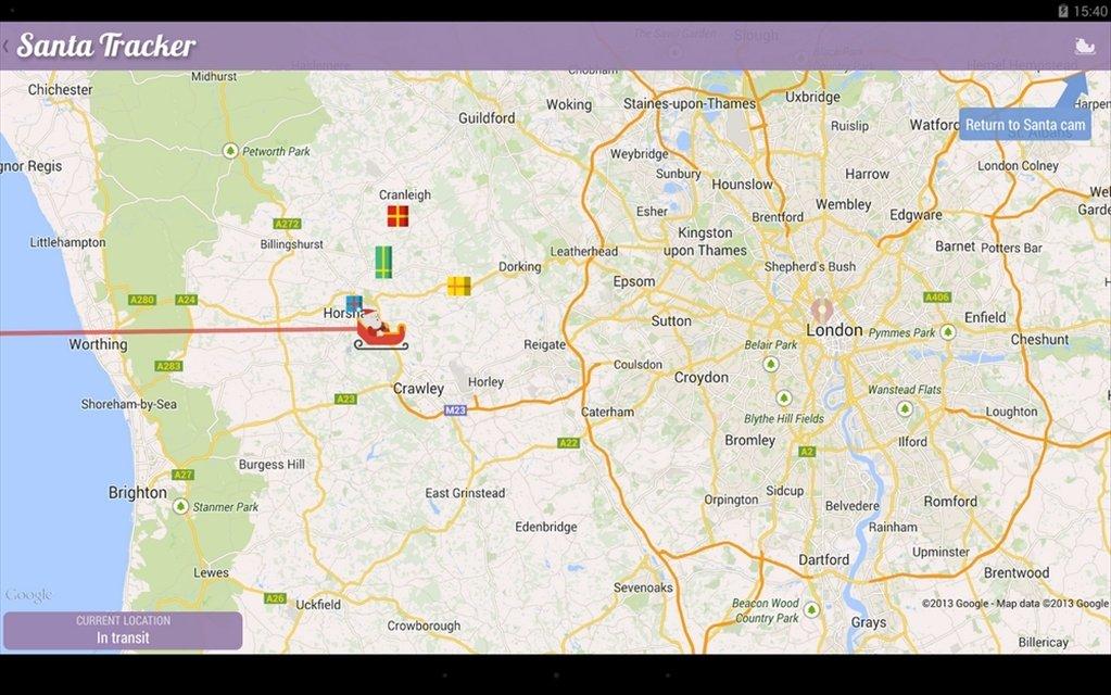 Google Sur la piste du père Noël Android image 5