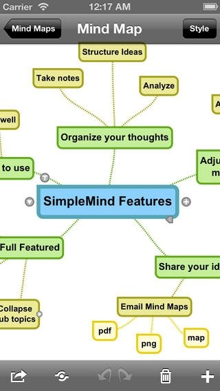 SimpleMind iPhone image 3