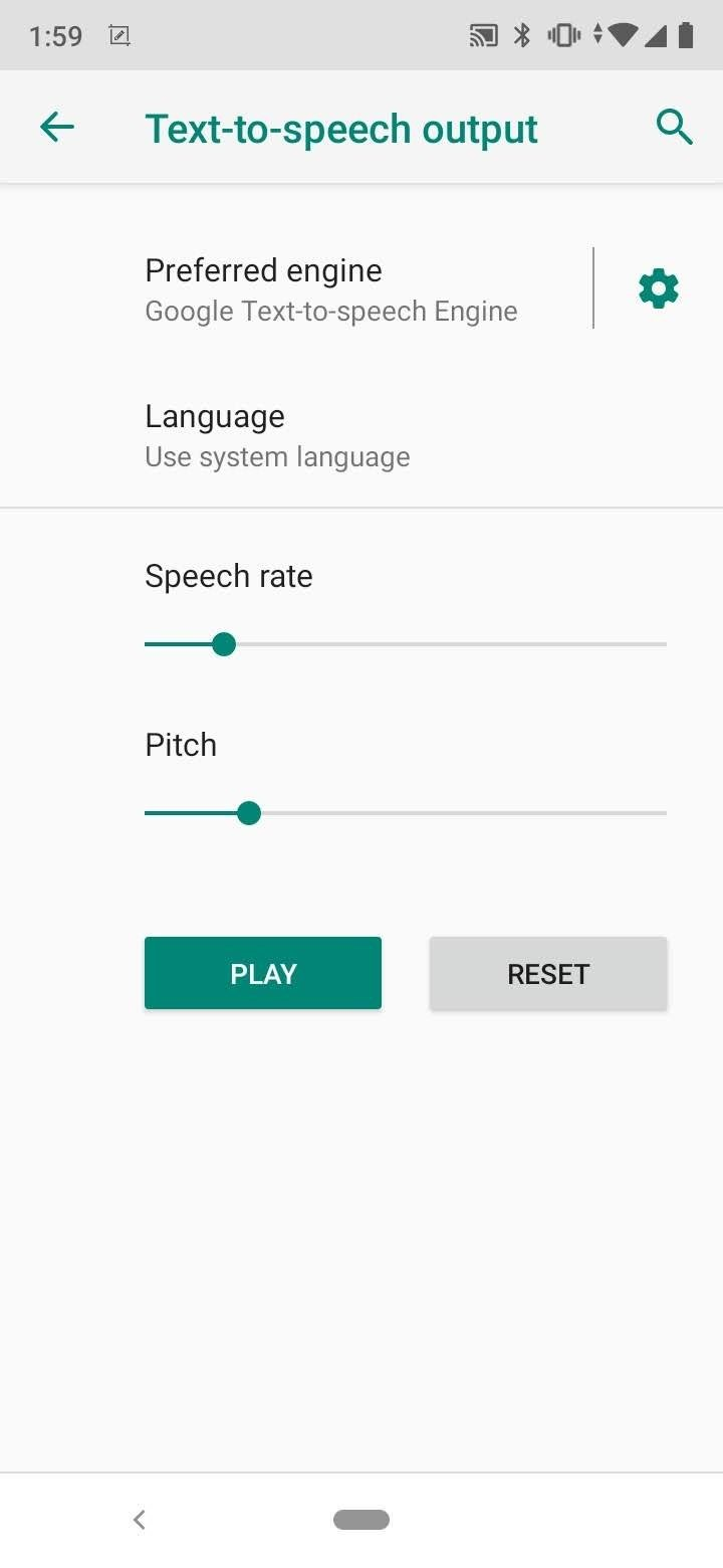 Google Text-to-Speech Android image 5