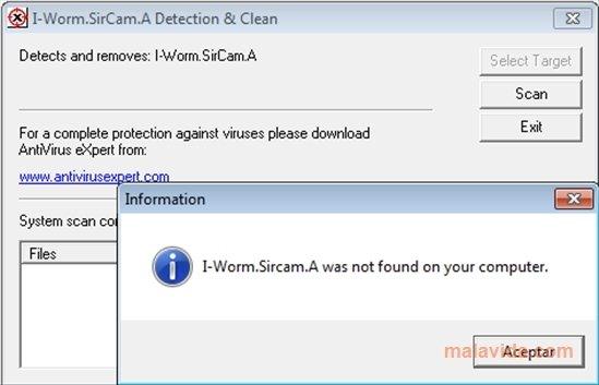 sircam removal tool pc用ダウンロード無料