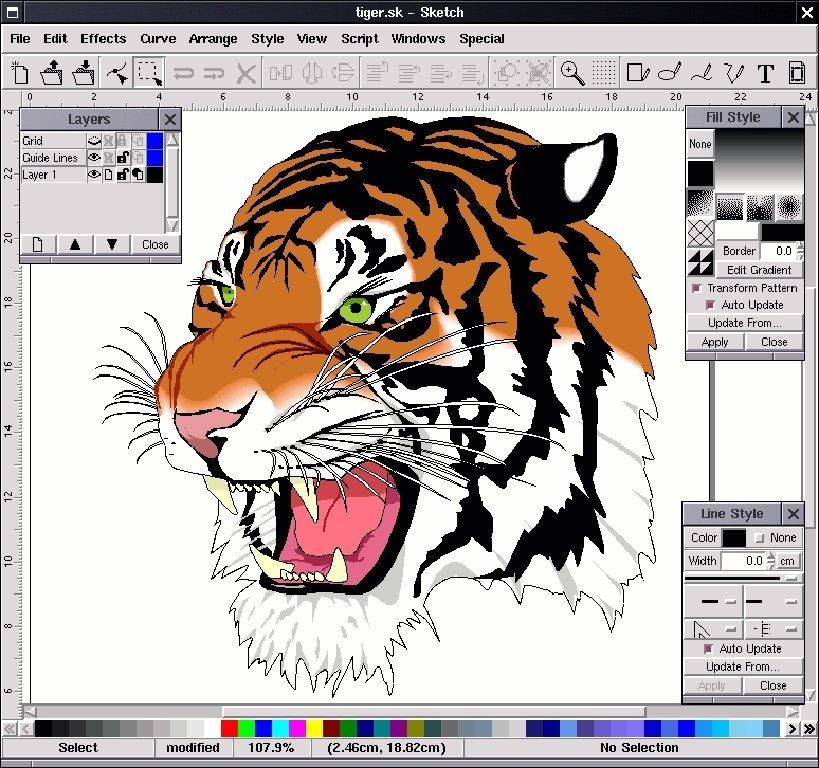 Skencil Linux image 2