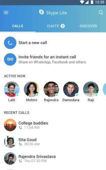 Skype Lite 1 80 76 2 - Download for Android APK Free