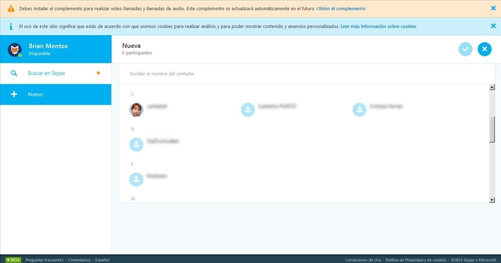 Descargar Skype Online Web gratis
