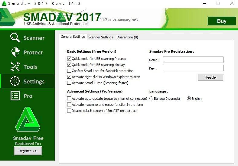 Smadav antivirus 2018 rev 12. 2 key full version free download (oct.