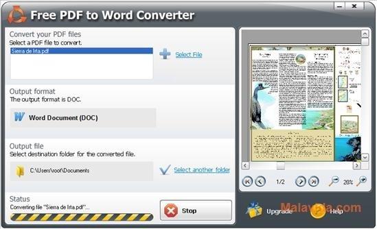 pdf word converter free