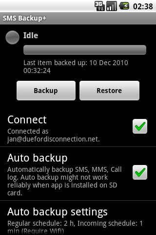 SMS Backup Android image 3