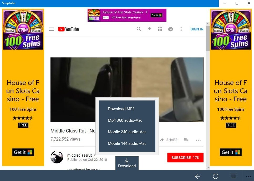 download snaptube setup for pc