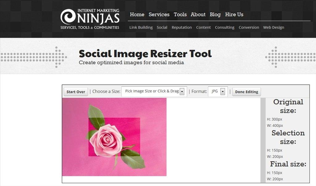 Social Image Resizer Tool Webapps image 4