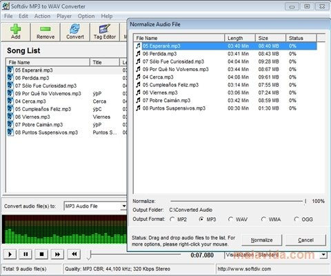 Softdiv MP3 to WAV Converter