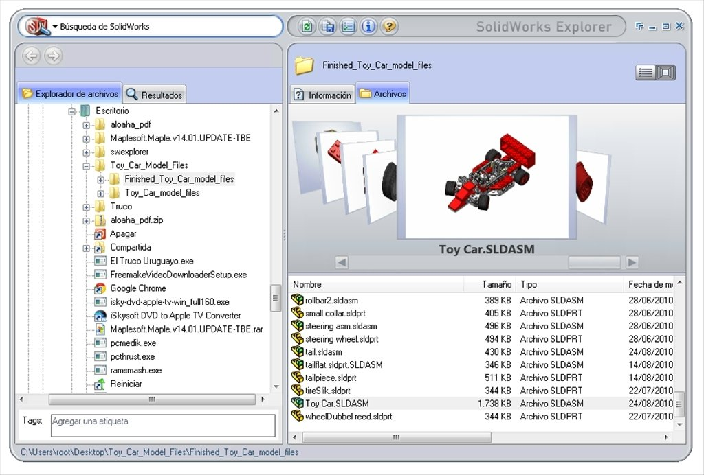 SolidWorks Explorer 2013