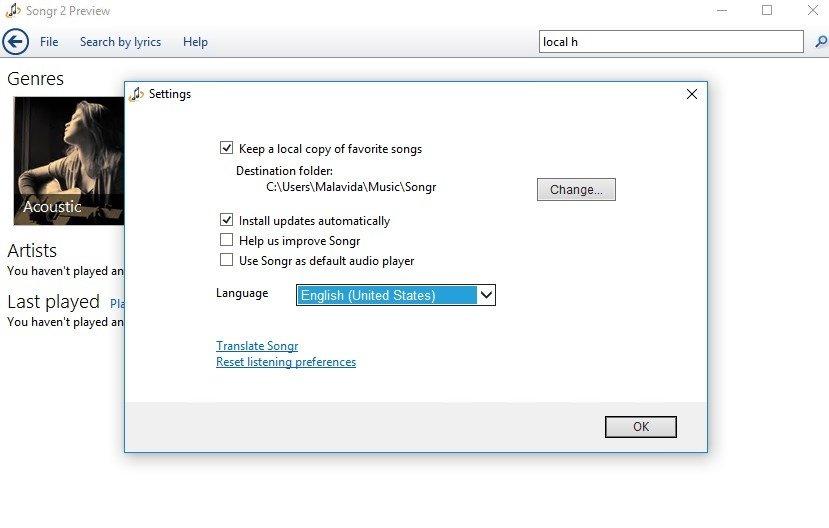 songr gratis per windows 8