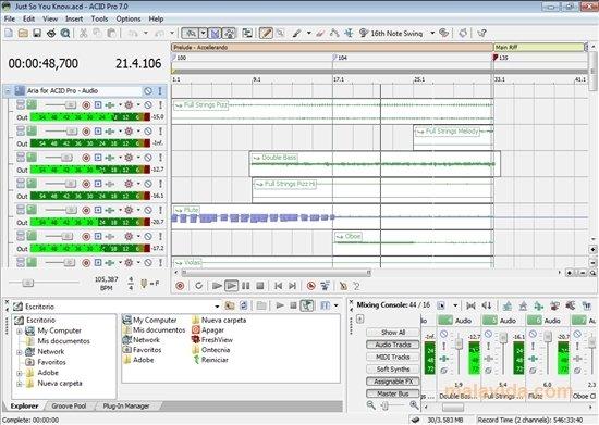 acid music studio 7.0 free download