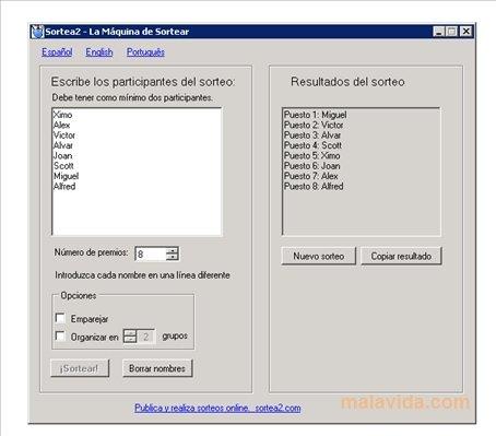 Sortea2 1 0 - Descargar para PC Gratis