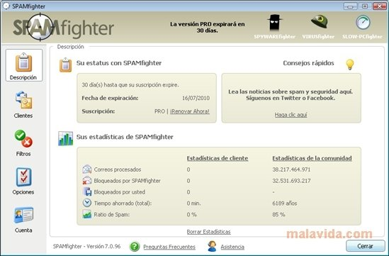 spamfighter free