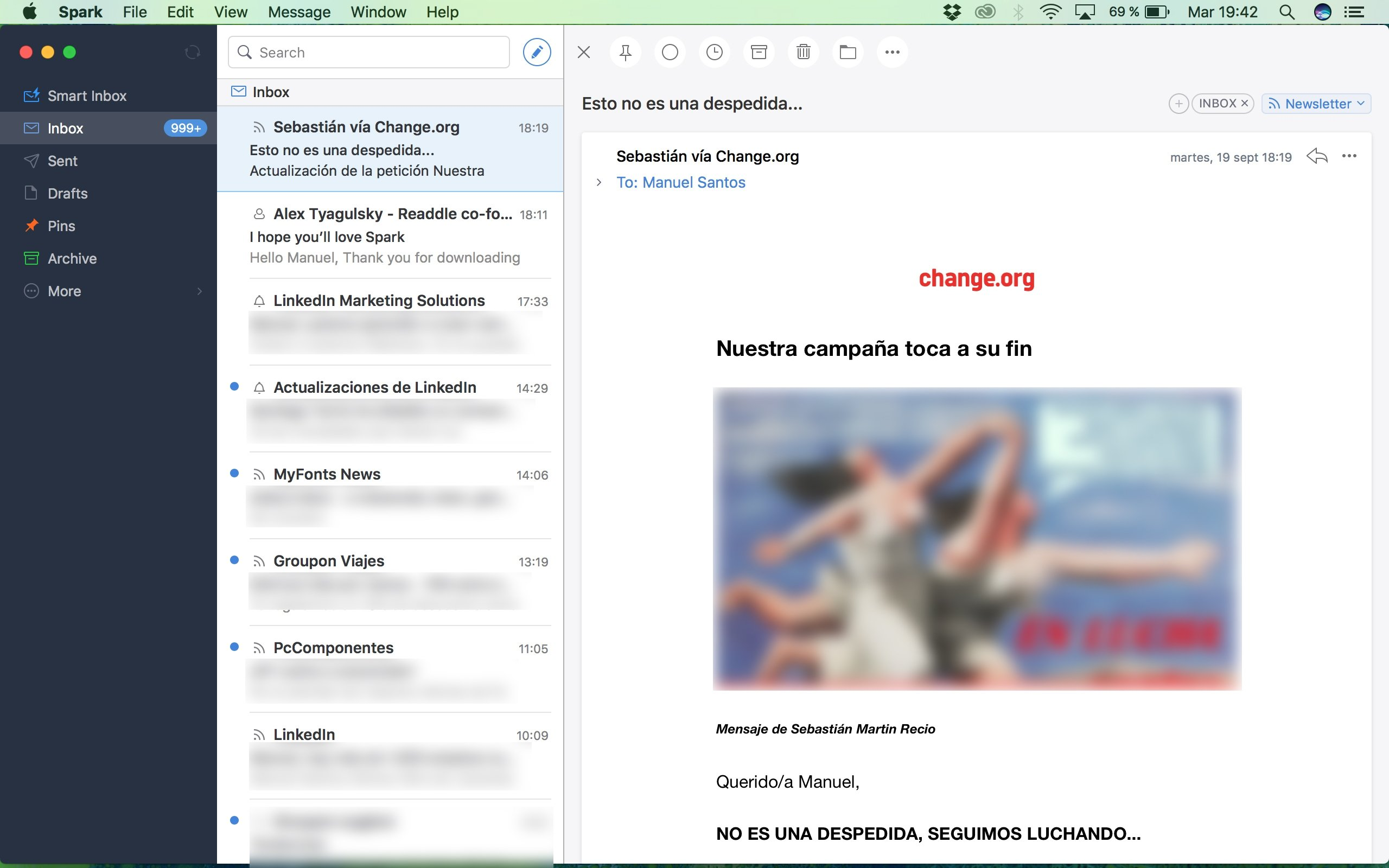 Spark - Love your email again 2 3 5 - Download for Mac Free
