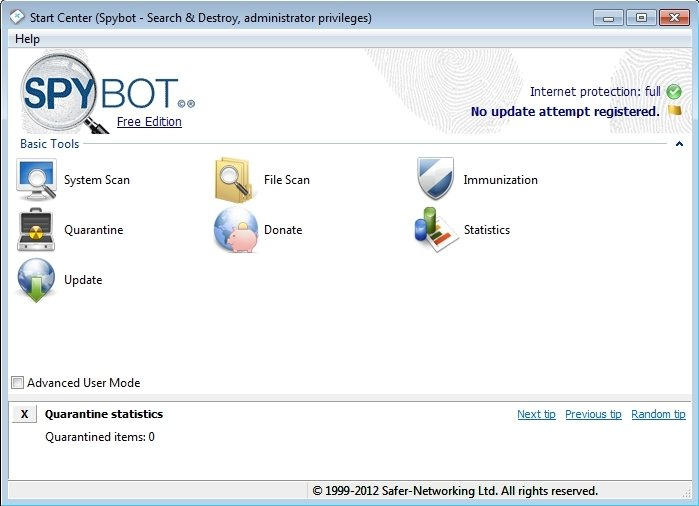 Spybot Search & Destroy 2.3.39