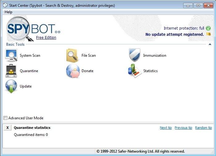 Spybot search & destroy free download.